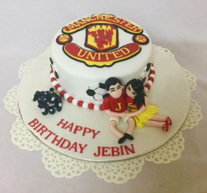 Manchester Romance Valentine Cake