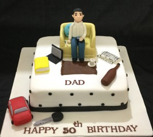 50th Happy Birthday DAD Cake