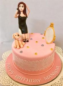 Selfie Theme Designer Birthday Cake