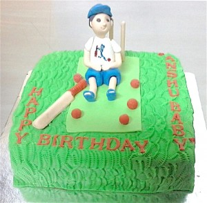 Little Cricket fan's Birthday Cake