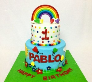 Rainbow theme Birthday cake