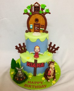 Masha and Bear Customized Birthday cake