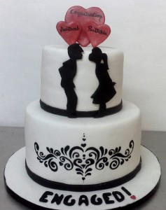 We are Engaged - Engagement Cake