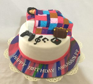 Colorful Bed Birthday Cake
