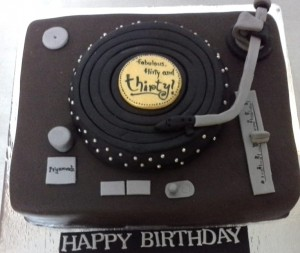 Turn Table Customized Birthday Cake