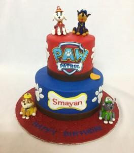 Paw patrol Designer 2 tier Birthday cake