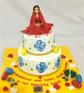 Wedding Cake - Bride's Mehndi theme