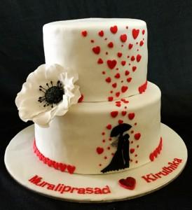 Romance Under Umbrella Cake