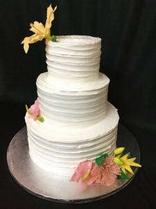 Cake Fresh cream cake with flowers