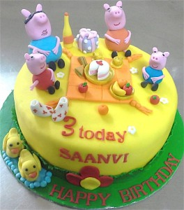 BD Peppa Pig Birthday Cake