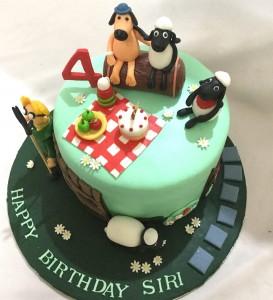 Shaun the Sheep Kid's Birthday Cake