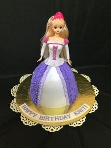 Purple & white Barbie Birthday Cake