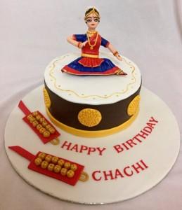 Bharadanatyam Birthday cake