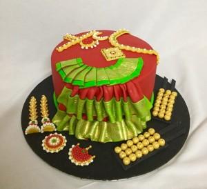 Custom Birthday Cake Bharatnatyamle artic theme