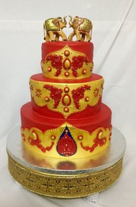 Traditional Indian Engagement Cake