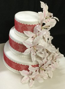 Customized Wedding Cake - R&W Flowers
