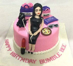 Busy Bee Shopping Designer Birthday Cake