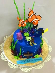 Nemo and Dory birthday cake