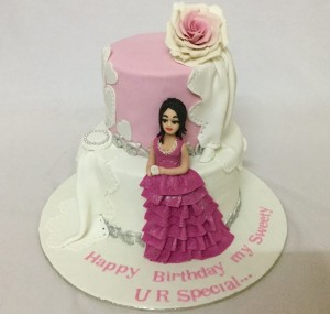 Sweety's 2 tier Customized Birthday cake