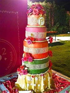 Ethnic Dress Wedding Cake