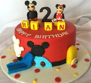 Theme Mickey Birthday Cake