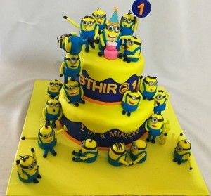 Minions and Minions Birthday Cake