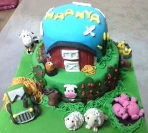 Birthday Cake Farm Animals Theme