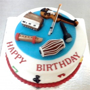 Musical Instruments Cake 1.5 Kg