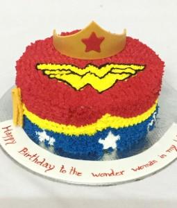 Wonder woman Buttercream Birthday Cake