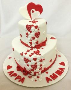 My Heart Valentine Cake
