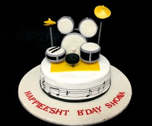 Drums Theme Cake 1.5 Kg