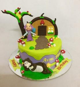 Masha and Bear Theme Cake