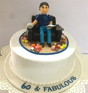 60 & Fabulous Birthday Cake