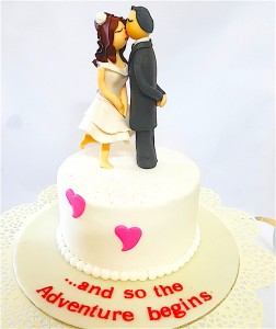 Adventure of Love Valentine Cake