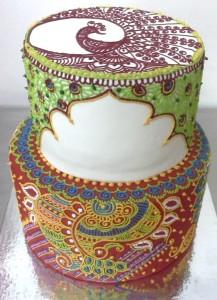 Wedding Cake Mehndi Design