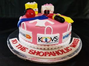 Customized Shopoholic Birthday Cake