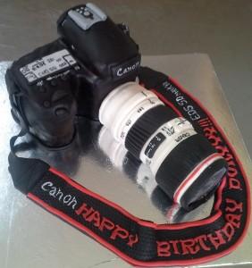 DSLR Camera Customized Birthday Cake