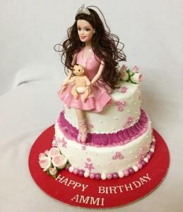 Beautiful Barbie Birthday Cake