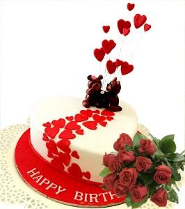 Valentine Hearts Cake Combo 1 kg