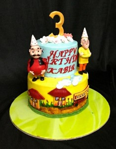 Motu and Patlu Birthday Cake