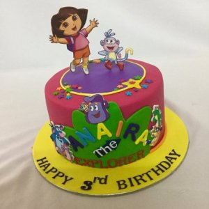 Birthday cake Dora Theme