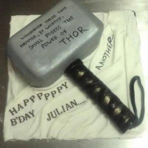 Thor Hammer Birthday Cake