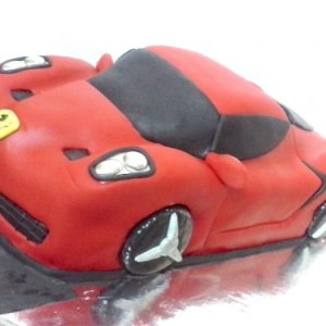 Sculpted Farrari Car Birthday Cake Order Online