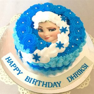 Frozen Theme Cream Cake