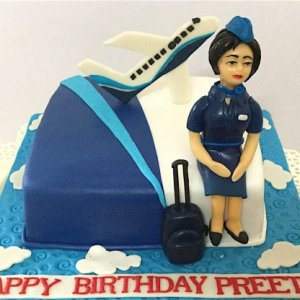 Preety Air Hostess Cake