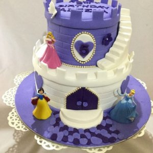 Cake-Purple Castle Birthday Cake