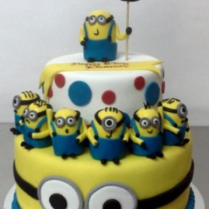 3rd Birthday Minion theme Cake