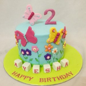Butterflies theme birthday Cake