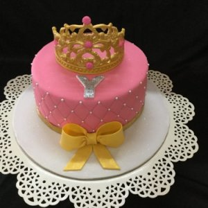 1st Birthday Tiara with Bow Theme Cake