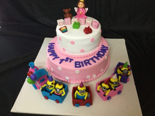 Peachy 1St Birthday Angel Cake Funny Birthday Cards Online Alyptdamsfinfo